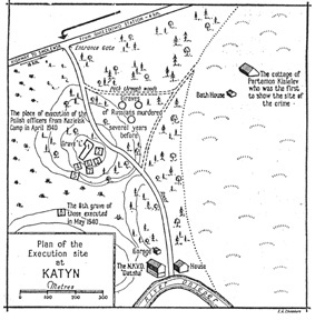 Map of Katyn Forest Macre site
